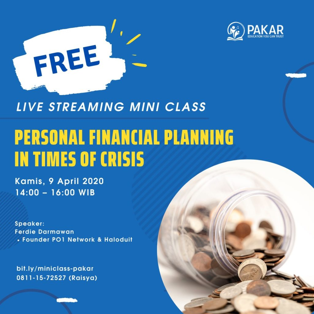 Personal Financial Planning in Times of Crisis