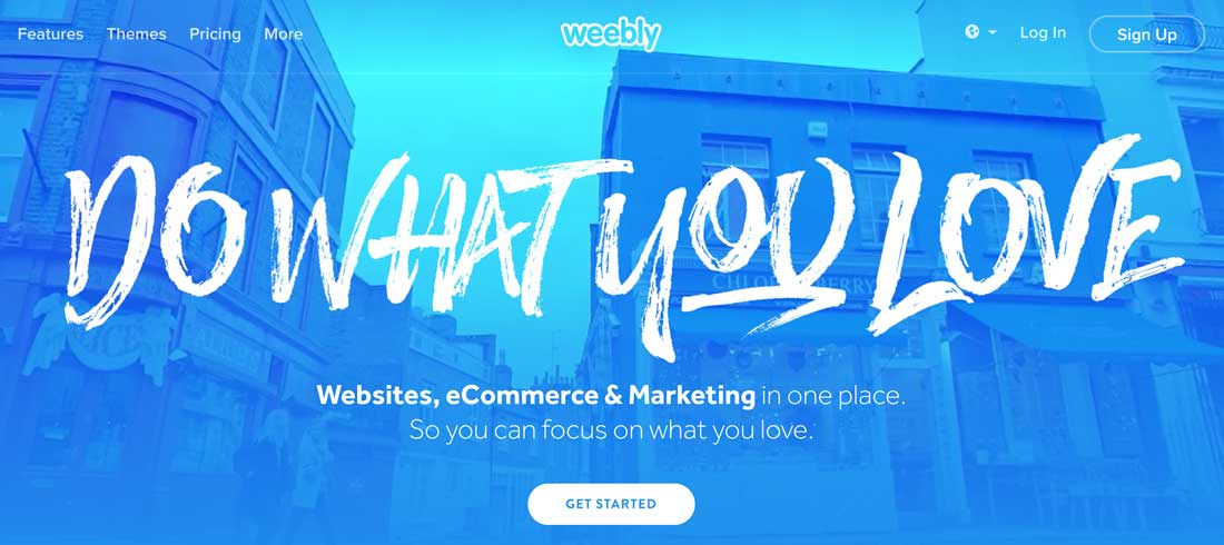 Sign Up di Weebly