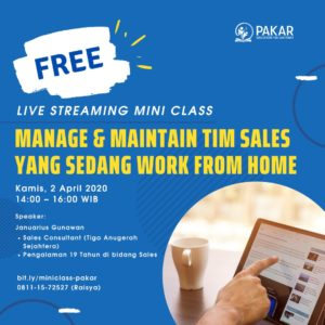 Manage & Maintain Tim Sales yang Sedang Work From Home