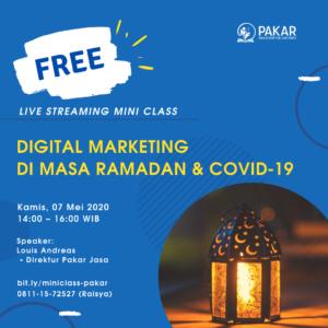 Digital Marketing di masa Ramadan & COVID-19