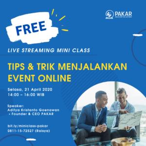 Tips & Trik Menjalankan Event Online